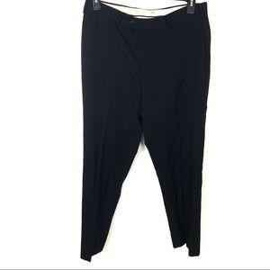 Brooks Brothers Madison Wool Black Dress Pants 35